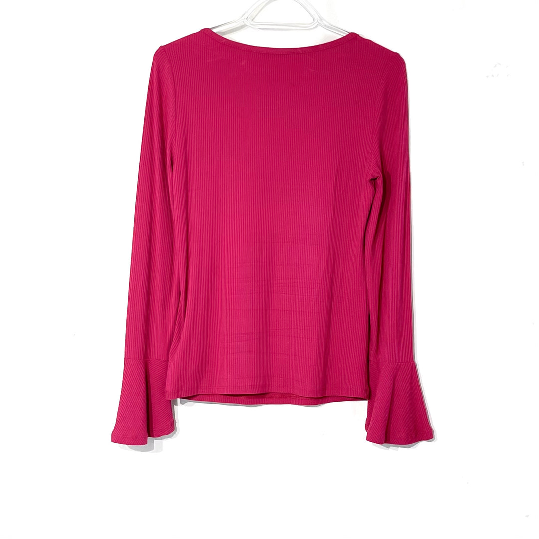 Photo #1 - BRAND: MICHAEL KORS <BR>STYLE: TOP LONG SLEEVE <BR>COLOR: HOT PINK <BR>SIZE: S <BR>SKU: 262-26275-62444