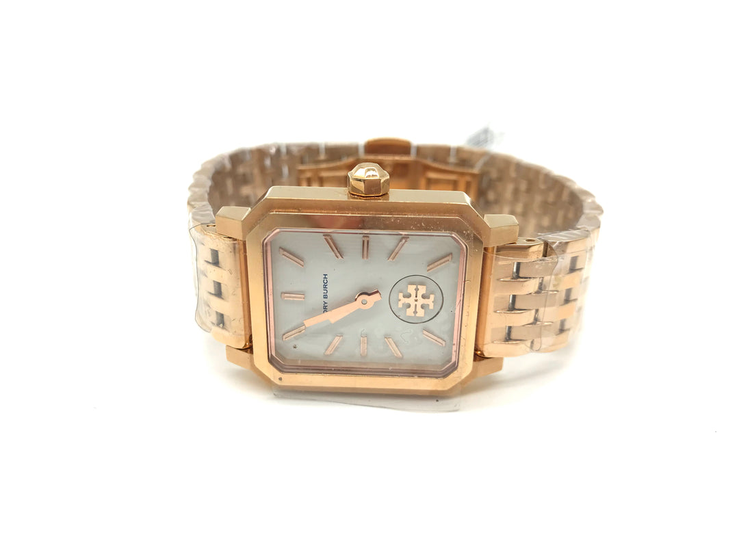Primary Photo - BRAND: TORY BURCH <BR>STYLE: WATCH <BR>COLOR: GOLD <BR>SKU: 262-262100-172<BR>IN NEW AND WORKING CONDITION <BR>DESIGNER BRAND - FINAL SALE
