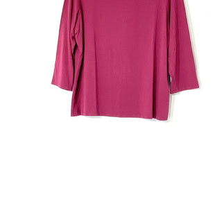 Primary Photo - BRAND: EILEEN FISHER STYLE: TOP 3/4 LONG SLEEVE COLOR: RASPBERRY SIZE: L SKU: 262-26275-7221592% VISCOSE 8% SPANDEX