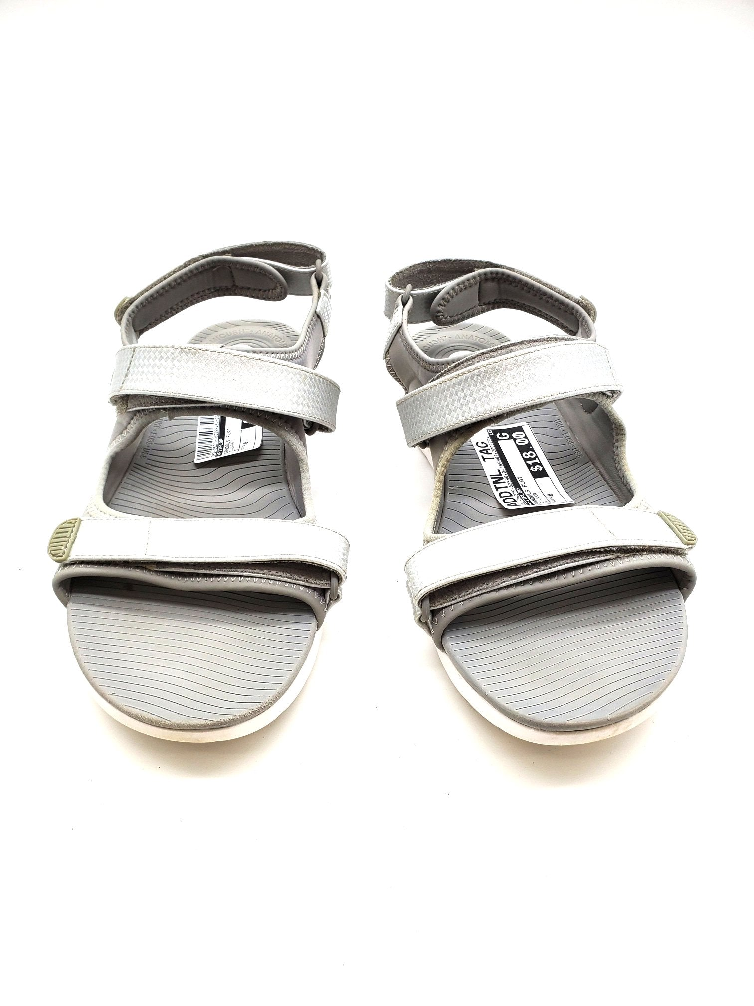 Primary Photo - BRAND: FITFLOP <BR>STYLE: SANDALS FLAT <BR>COLOR: SILVER <BR>SIZE: 8 <BR>SKU: 262-26275-62388<BR>AS IS