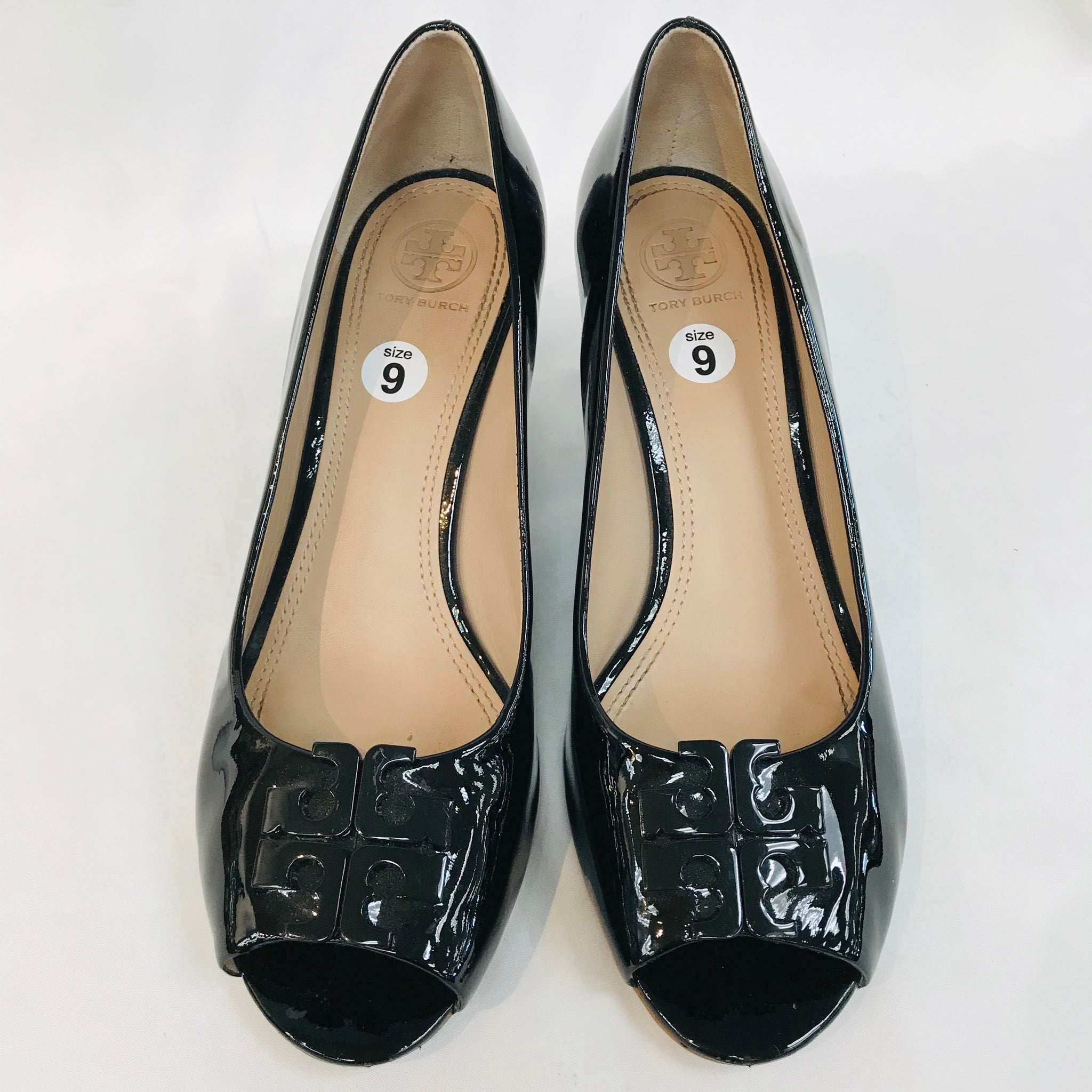 Primary Photo - BRAND: TORY BURCH <BR>STYLE: SHOES FLATS <BR>COLOR: BLACK <BR>SIZE: 9 M<BR>SKU: 262-26298-409<BR>AS IS