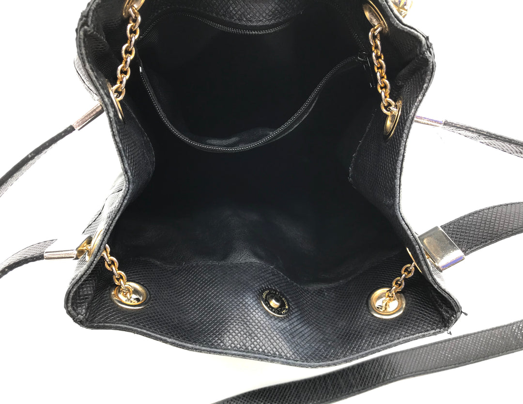 "Photo #3 - <P>BRAND: BOTTEGA VENETA <BR>STYLE: HANDBAG DESIGNER <BR>COLOR: BLACK <BR>SIZE: SMALL <BR>SKU: 262-26211-130179<BR><BR>PRICE REFLECTS SOME GENTLE WEAR AS SHOWN. APPROX. 8.5"" X 10.5""</P>"