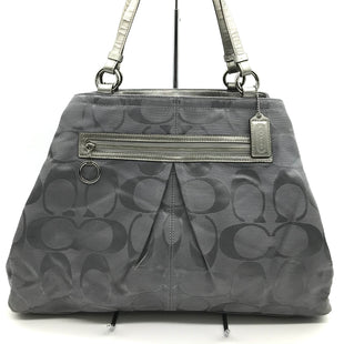 "Primary Photo - BRAND: COACH STYLE: HANDBAG DESIGNER COLOR: GREY SIZE: LARGE 12""H X 18""L X 4""WHANDLES DROP: 10""SKU: 262-26275-69927GENTLE WEAR SHOWS - AS IS"