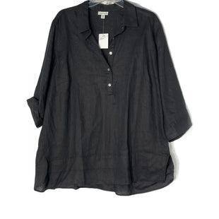 Primary Photo - BRAND: J JILL STYLE: TOP LONG SLEEVE COLOR: BLACK SIZE: 2X SKU: 262-26241-47560100% LINEN