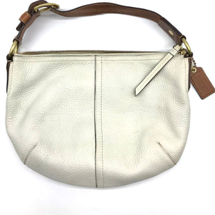"Primary Photo - BRAND: COACH STYLE: HANDBAG DESIGNER COLOR: CREAM SIZE: SMALL 10""H X 13.5""L X 3""WSTRAP DROP: 6""SKU: 262-26241-43318GENTLE WEAR ON THE EXTERIOR • INK MARKS ON THE INTERIOR LINING • AS IS"