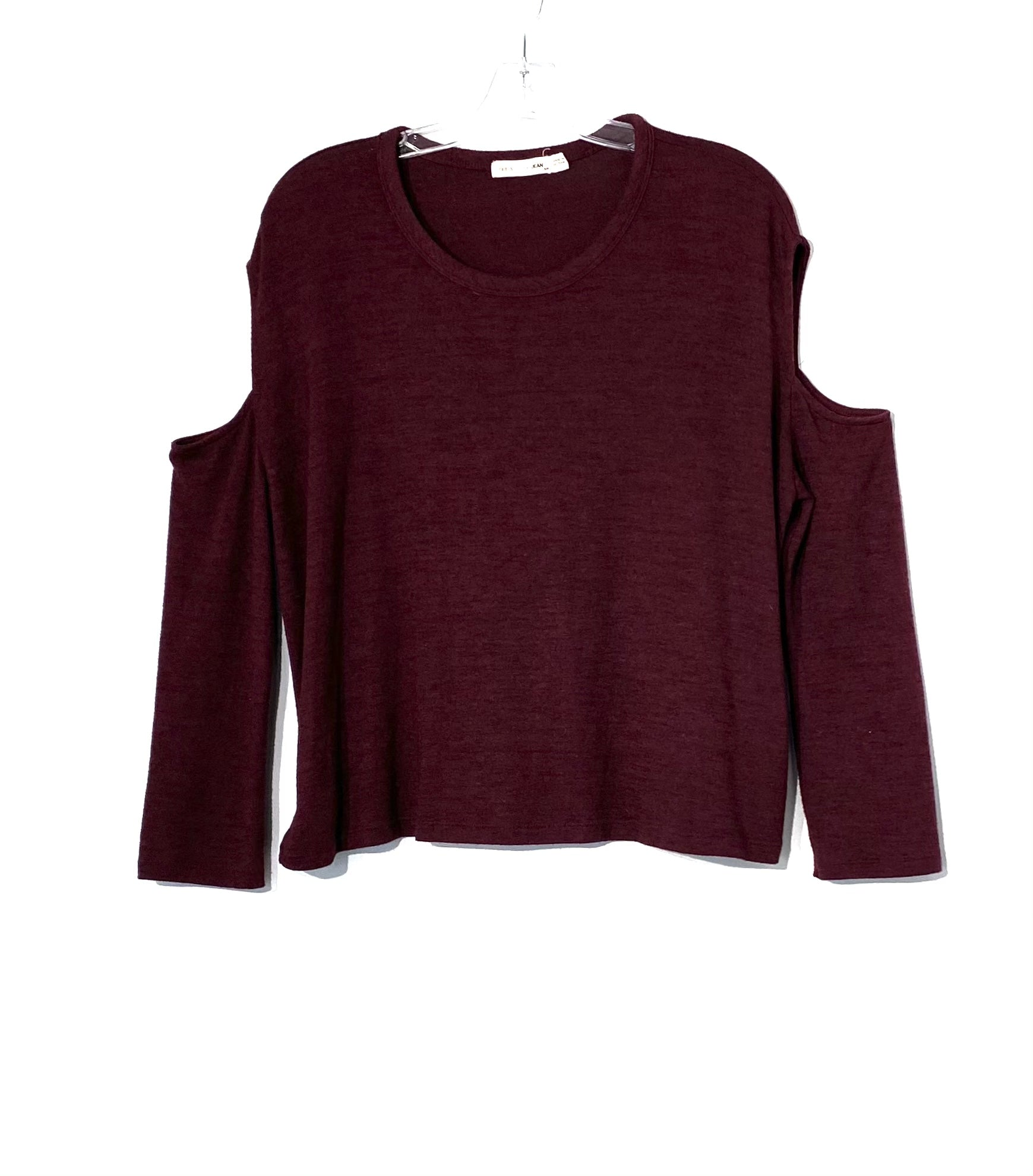 Primary Photo - BRAND: RAG & BONES JEANS <BR>STYLE: TOP LONG SLEEVE <BR>COLOR: BURGUNDY <BR>SIZE: S <BR>SKU: 262-26241-43915<BR>4% SPANDEX <BR>COLD SHOULDER STYLE