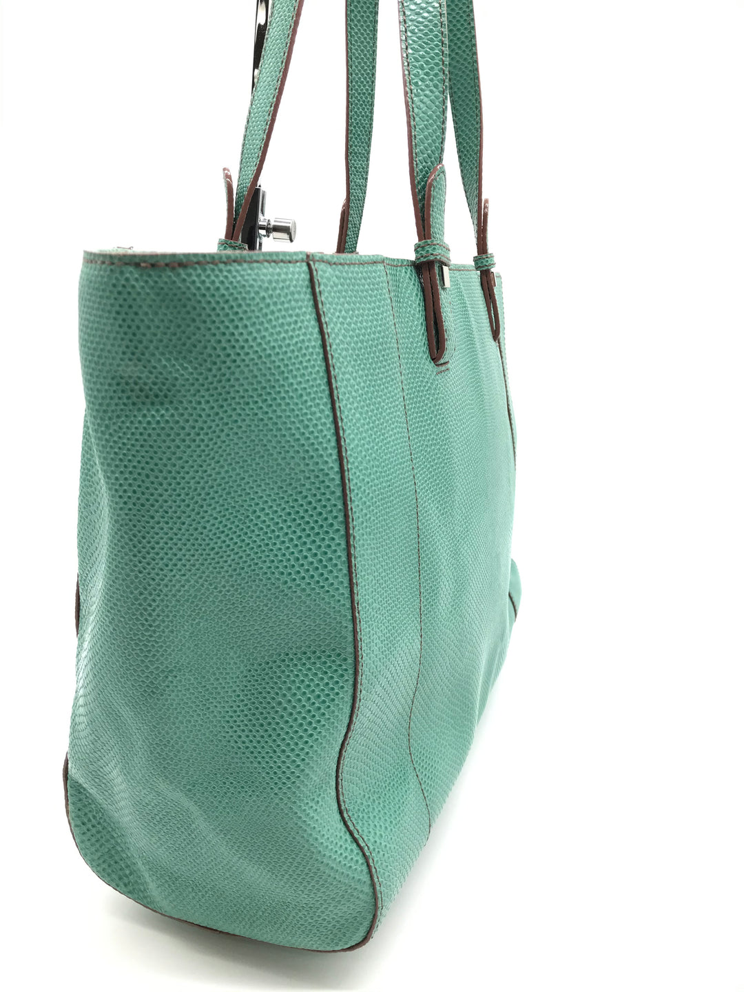 "Photo #1 - BRAND: BARR+BARR<BR>STYLE: HANDBAG <BR>COLOR: MINT <BR>SIZE: LARGE 10""H X 17.5""L X 5""W <BR>SKU: 262-26275-70332<BR>SOME MARKS ON THE EXTERIOR -AS IS"