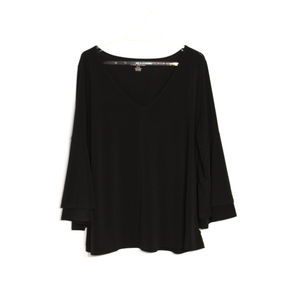 Primary Photo - BRAND: LANE BRYANT <BR>STYLE: TOP LONG SLEEVE <BR>COLOR: BLACK <BR>SIZE: XL (14/16)<BR>SKU: 262-26275-60230
