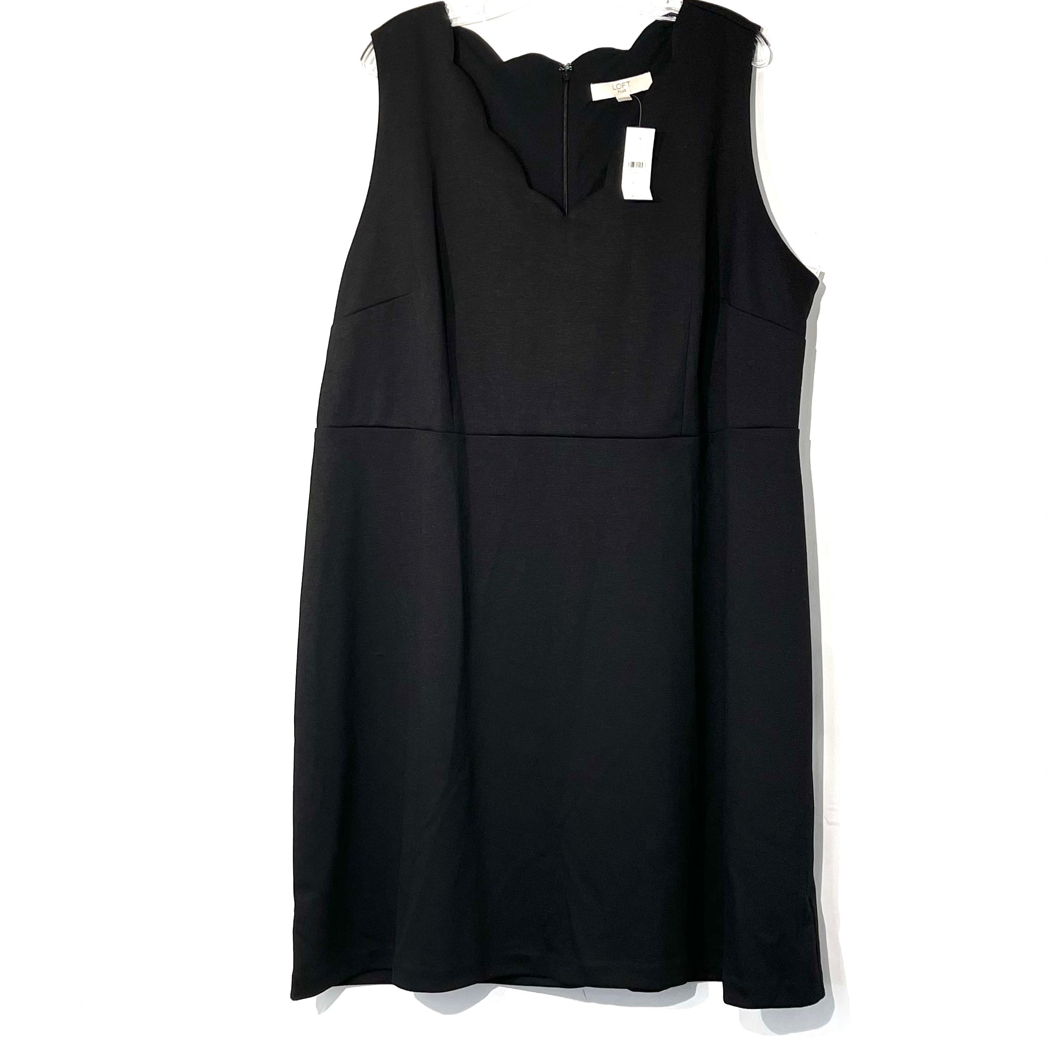 Primary Photo - BRAND: ANN TAYLOR LOFT PLUS<BR>STYLE: DRESS SHORT SLEEVELESS <BR>COLOR: BLACK <BR>SIZE: 2X/22<BR>SKU: 262-262101-1724