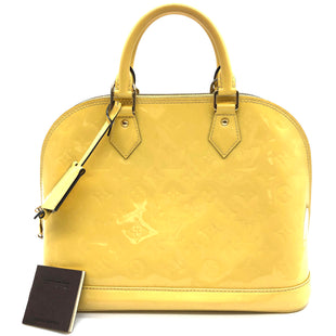 "Primary Photo - BRAND: LOUIS VUITTON STYLE: HANDBAG DESIGNER COLOR: YELLOW SIZE: MEDIUM SKU: 262-26275-77164APPROX. 12""L X 9.25""H X 6""D. SOME SLIGHT MARKS AND SOME VISIBLE WEAR INSIDE REFLECTED IN PRICE."