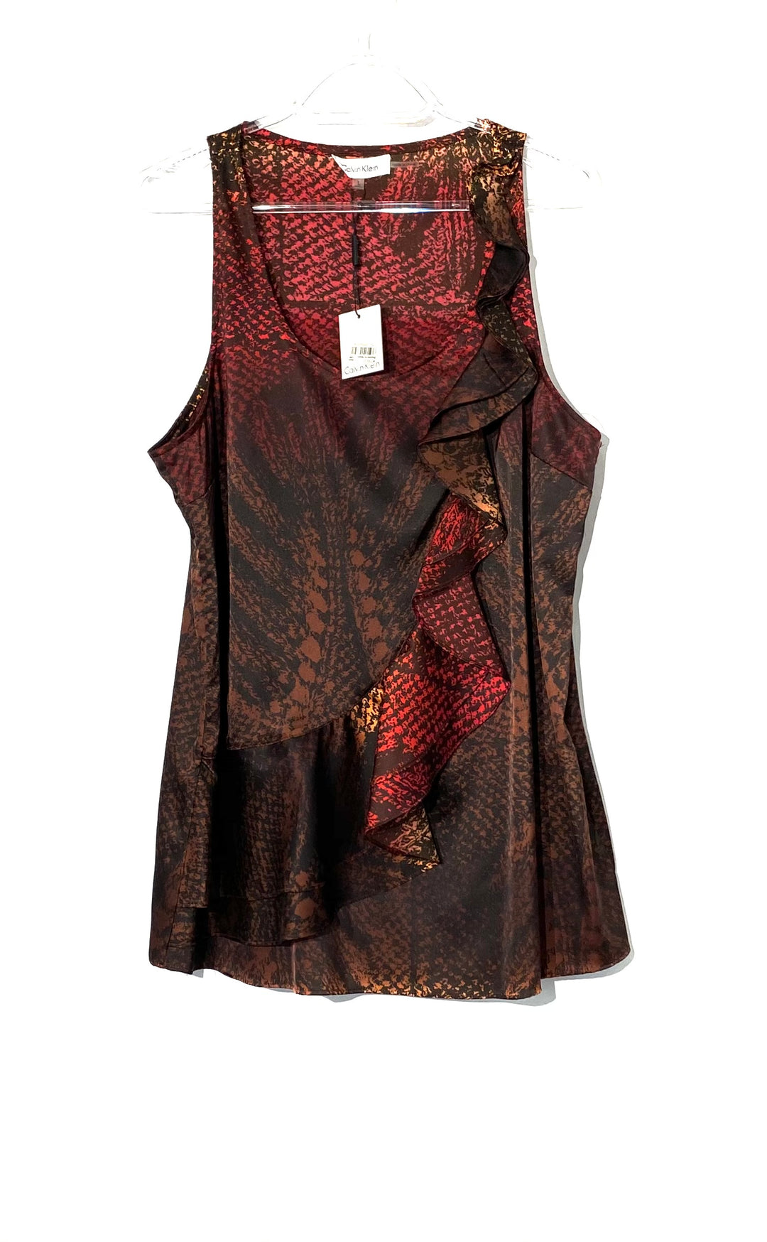 Primary Photo - BRAND: CALVIN KLEIN <BR>STYLE: TOP SLEEVELESS <BR>COLOR: MULTI <BR>SIZE: L <BR>SKU: 262-26275-71958