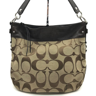 "Primary Photo - BRAND: COACH STYLE: HANDBAG DESIGNER COLOR: MONOGRAM SIZE: LARGE 12.5""H X 15""L X 4.5""W STRAP DROP: 9""SKU: 262-262101-1756WEAR SHOWS • VISIBLE STAINS AROUND THE LOWER BAG EXTERIOR • SLIGHT STAINS ON THE INTERIOR LINING • AS IS"