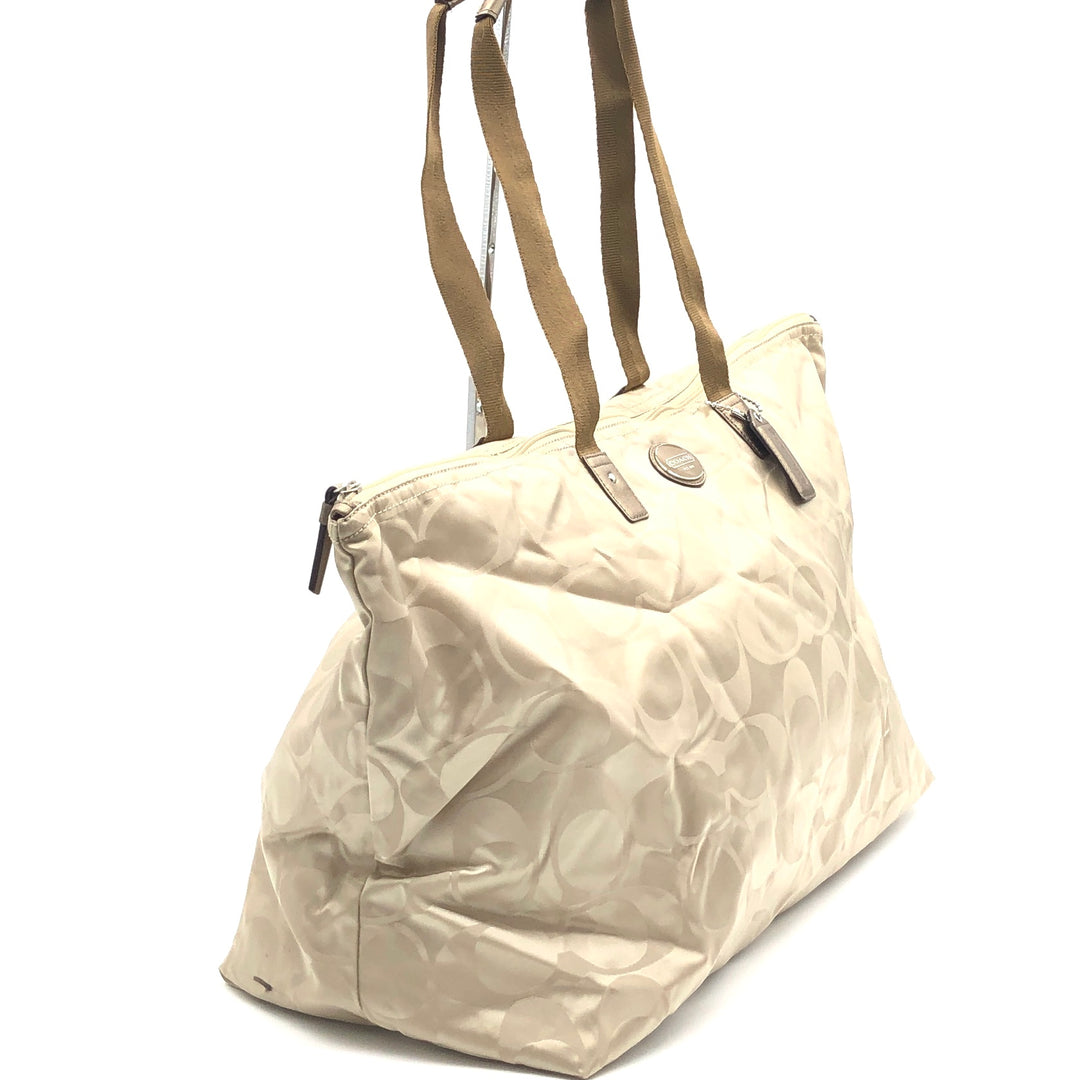"Photo #2 - BRAND: COACH <BR>STYLE: HANDBAG <BR>COLOR: BEIGE <BR>SIZE: LARGE 14""H X 23""L X 9""H<BR>SKU: 262-26275-74432<BR>GENTLE WEAR - AS IS"
