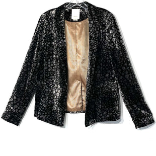 Primary Photo - BRAND: ELEVENSES ANTHROPOLOGIE STYLE: BLAZER JACKET COLOR: BLACK SIZE: L -XL/14SKU: 262-26211-139698VELOUR MATERIAL