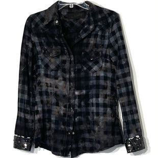 Primary Photo - BRAND:    THE NU VINTAGE STYLE: TOP LONG SLEEVE COLOR: PLAID SEQUIN NAVYSIZE: M OTHER INFO: SKU: 262-26211-142541