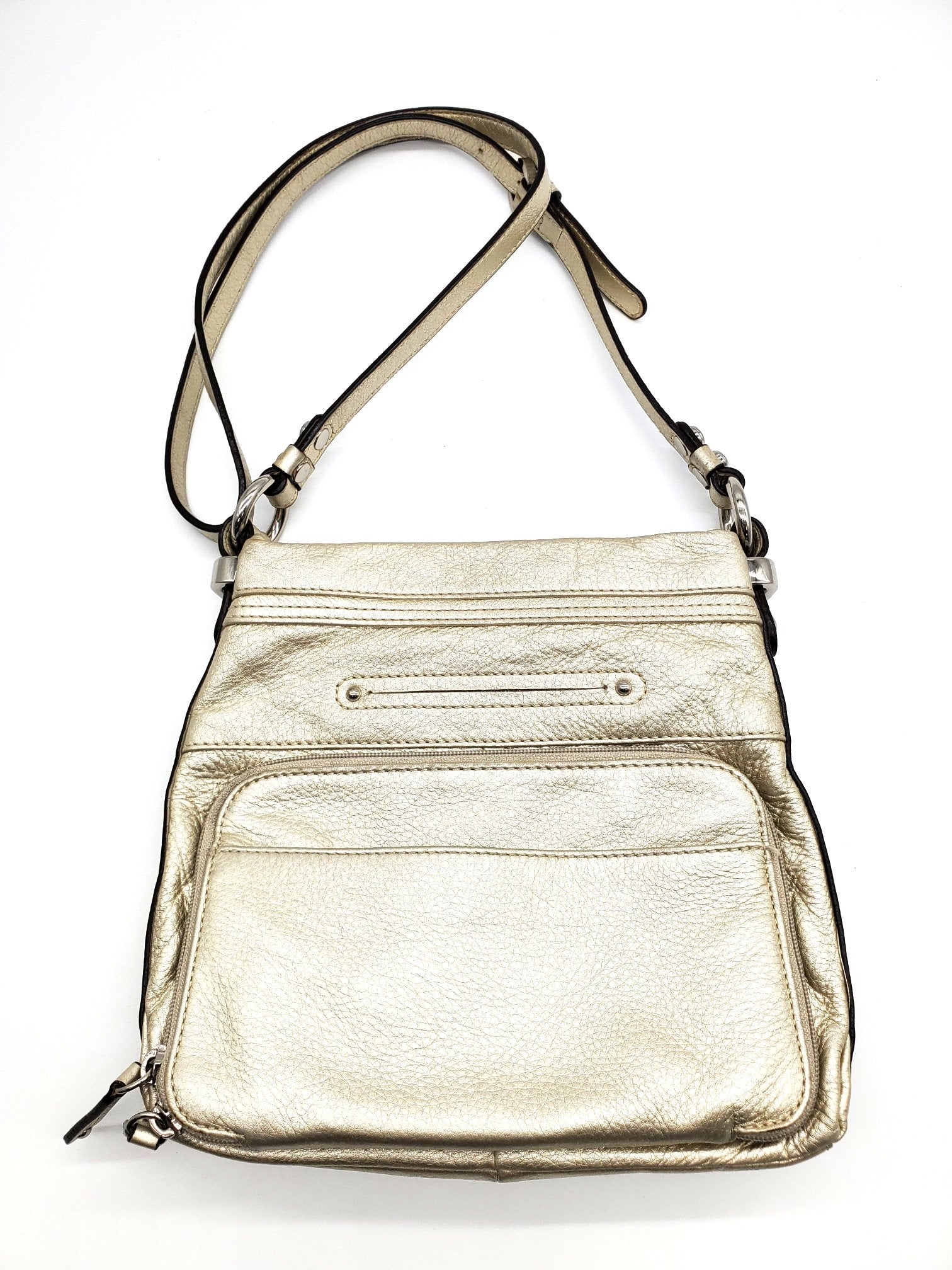 Primary Photo - BRAND: B MAKOWSKY <BR>STYLE: HANDBAG <BR>COLOR: GOLD <BR>SIZE: SMALL <BR>SKU: 262-26298-569<BR>AS IS <BR>