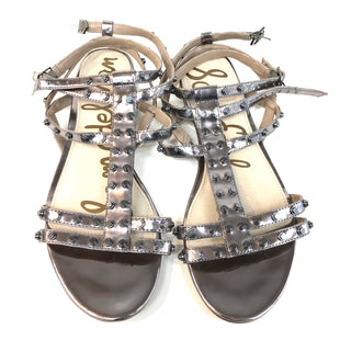 Primary Photo - BRAND: SAM EDELMAN BERKELEY STUDDEDSTYLE: SANDALS FLAT COLOR: METALLIC SIZE: 8 SKU: 262-26275-42785