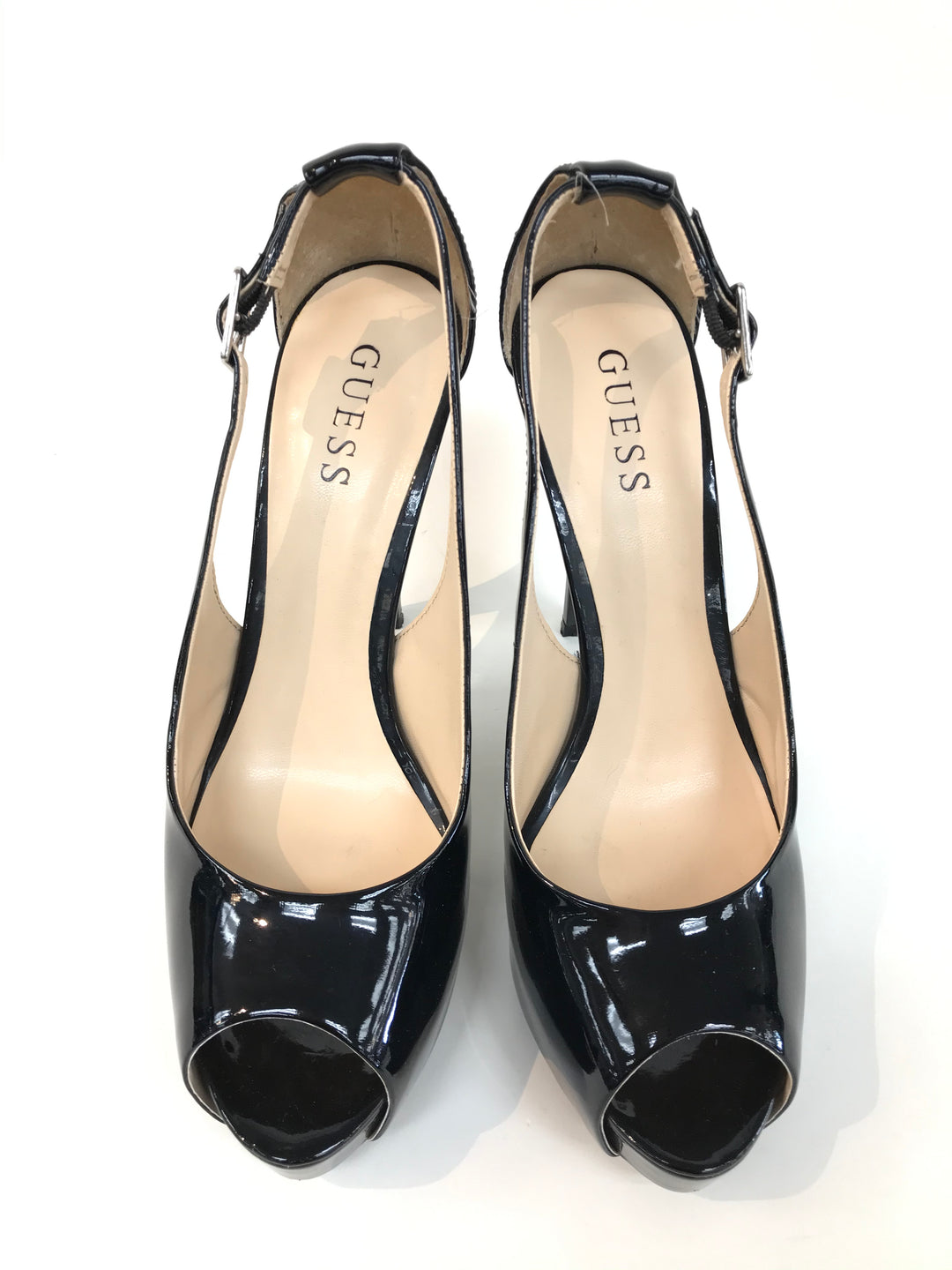 Primary Photo - BRAND: GUESS <BR>STYLE: SANDALS HIGH <BR>COLOR: BLACK <BR>SIZE: 8.5 <BR>SKU: 262-26211-138877<BR>LIKE NEW CONDITION <BR>AS IS