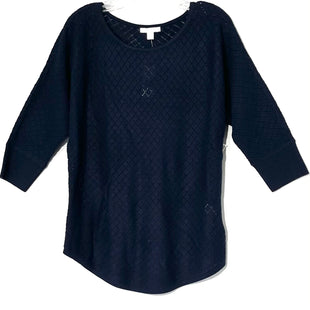 Primary Photo - BRAND: NEW YORK AND CO STYLE: SWEATER LIGHTWEIGHT COLOR: NAVY SIZE: M SKU: 262-26211-1413103/4 SLEEVE