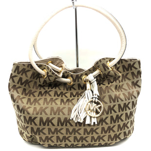 "Primary Photo - BRAND: MICHAEL KORS STYLE: HANDBAG DESIGNER COLOR: MONOGRAM SIZE: MEDIUM SKU: 262-26275-75009APPROX. 17""L X 11""H X 5.5""D"