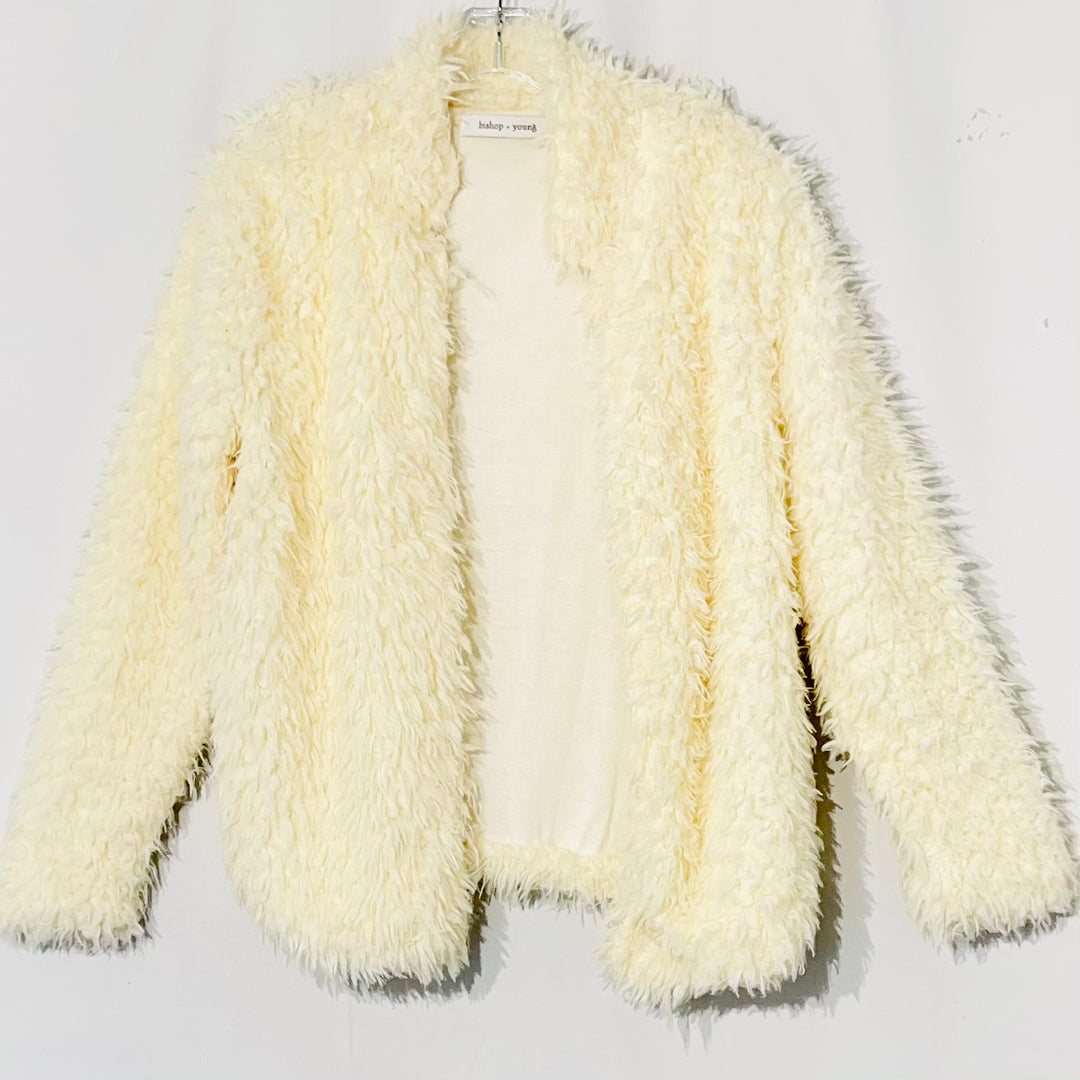Primary Photo - BRAND:    BISHOP + YOUNG<BR>STYLE: SWEATER CARDIGAN LIGHTWEIGHT <BR>COLOR: CREAM <BR>SIZE: M <BR>OTHER INFO: BISHOP YOUNG - <BR>SKU: 262-26275-75560<BR>SOFT!<BR>