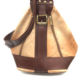 "Primary Photo - BRAND:    VALENTINO DI PAOLOSTYLE: BACKPACK COLOR: BROWN SIZE: MEDIUM OTHER INFO: VALENTINO DI PAOLO - SLIGHT MARKS AS IS SKU: 262-26241-43884SOME SLIGHT MARKS. APPROX. 8.25""L (BOTTOM), 15"" (MIDDLE) X 13""H X 7.5""D"