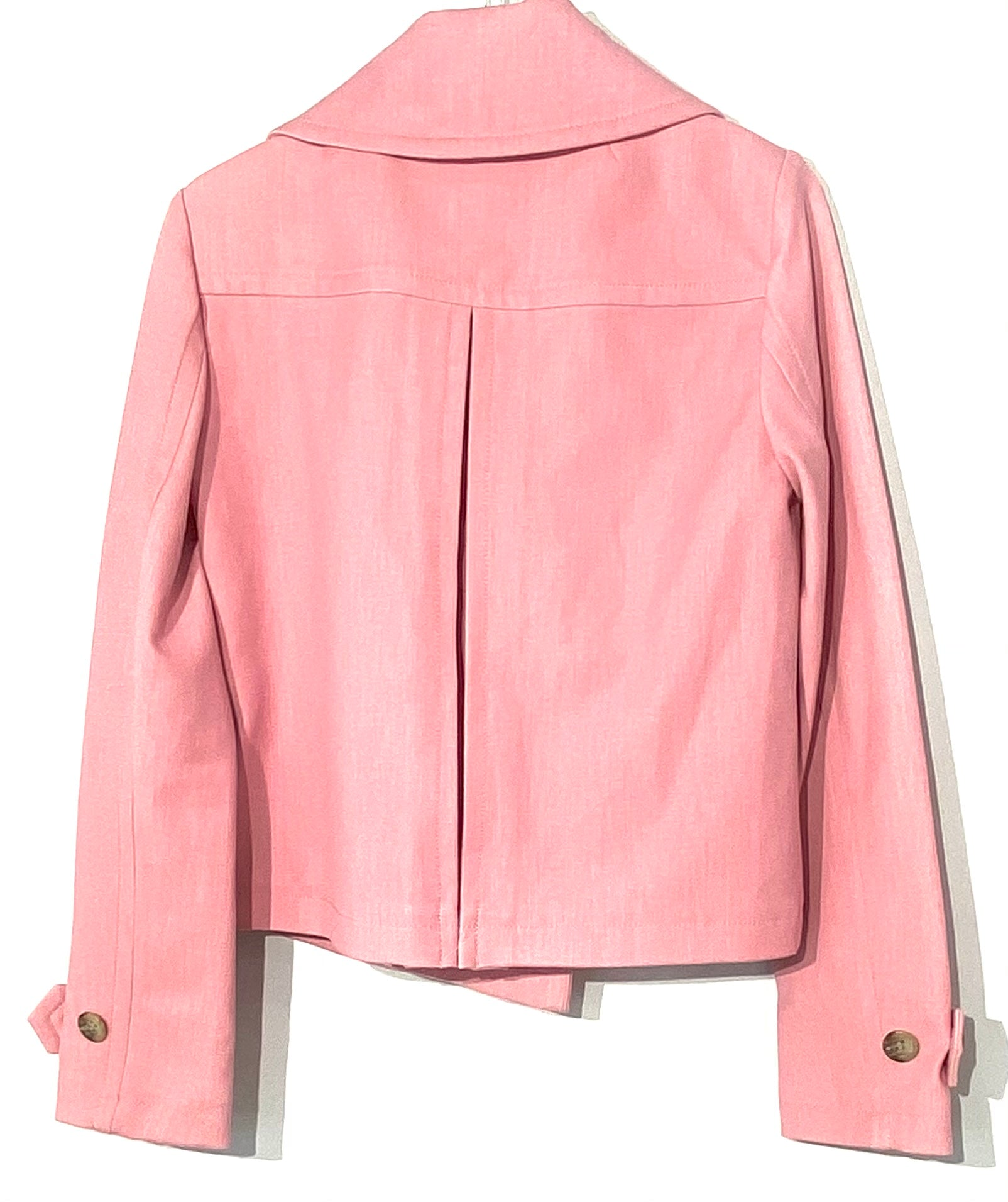 Photo #1 - BRAND: ANN TAYLOR <BR>STYLE: BLAZER JACKET <BR>COLOR: LIGHT PINK <BR>SIZE: XS /0<BR>SKU: 262-26241-42315