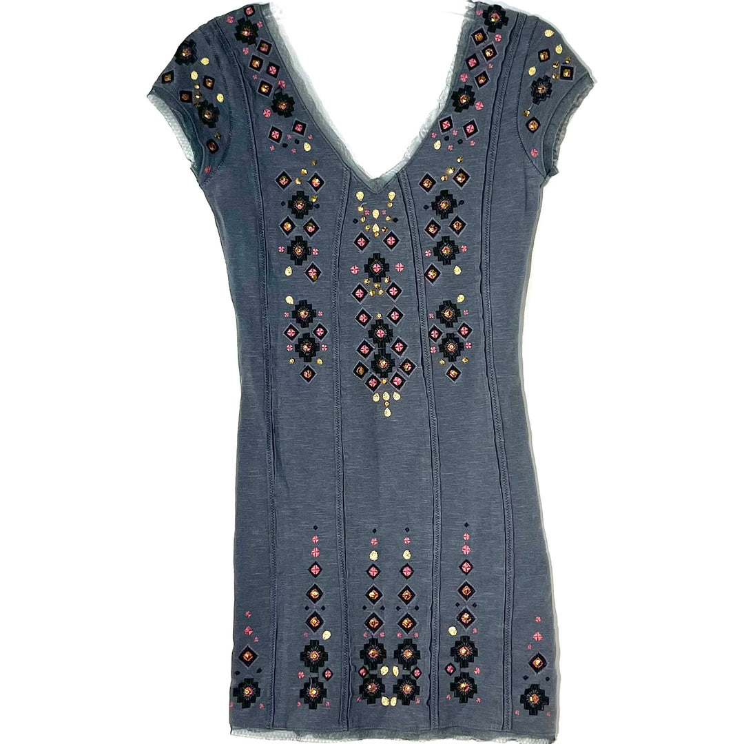 Primary Photo - BRAND: FREE PEOPLE <BR>STYLE: DRESS SHORT SLEEVELESS <BR>COLOR: GREY <BR>SIZE: XS <BR>SKU: 262-26241-46904