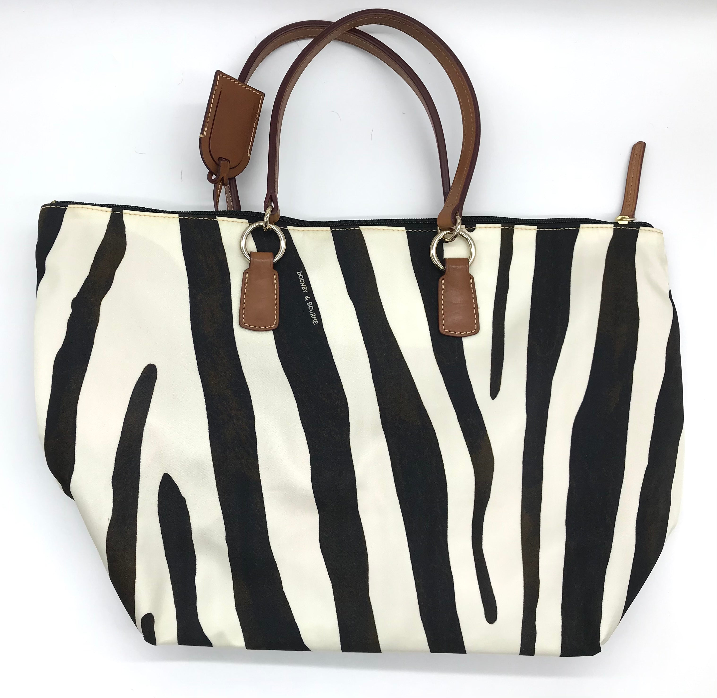 "Photo #1 - BRAND: DOONEY AND BOURKE <BR>STYLE: HANDBAG DESIGNER <BR>COLOR: ANIMAL PRINT <BR>SIZE: LARGE <BR>SKU: 262-26275-69474<BR><BR>APPROX. 18.5""L X 12""H X 7""D. COUPLE SLIGHT SPOTS NEAR EDGE"