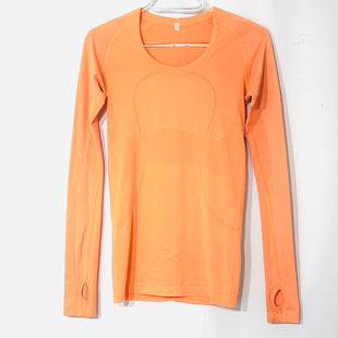 Primary Photo - BRAND: LULULEMON STYLE: ATHLETIC TOP COLOR: ORANGE SIZE: 4 SKU: 262-26275-74287GENTLE WEAR SOME STAINING SEE PIC AS IS