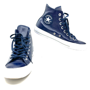 Primary Photo - BRAND: CONVERSE STYLE: SHOES ATHLETIC COLOR: NAVY SIZE: 9 SKU: 262-262100-375HIGH TOP LEATHER