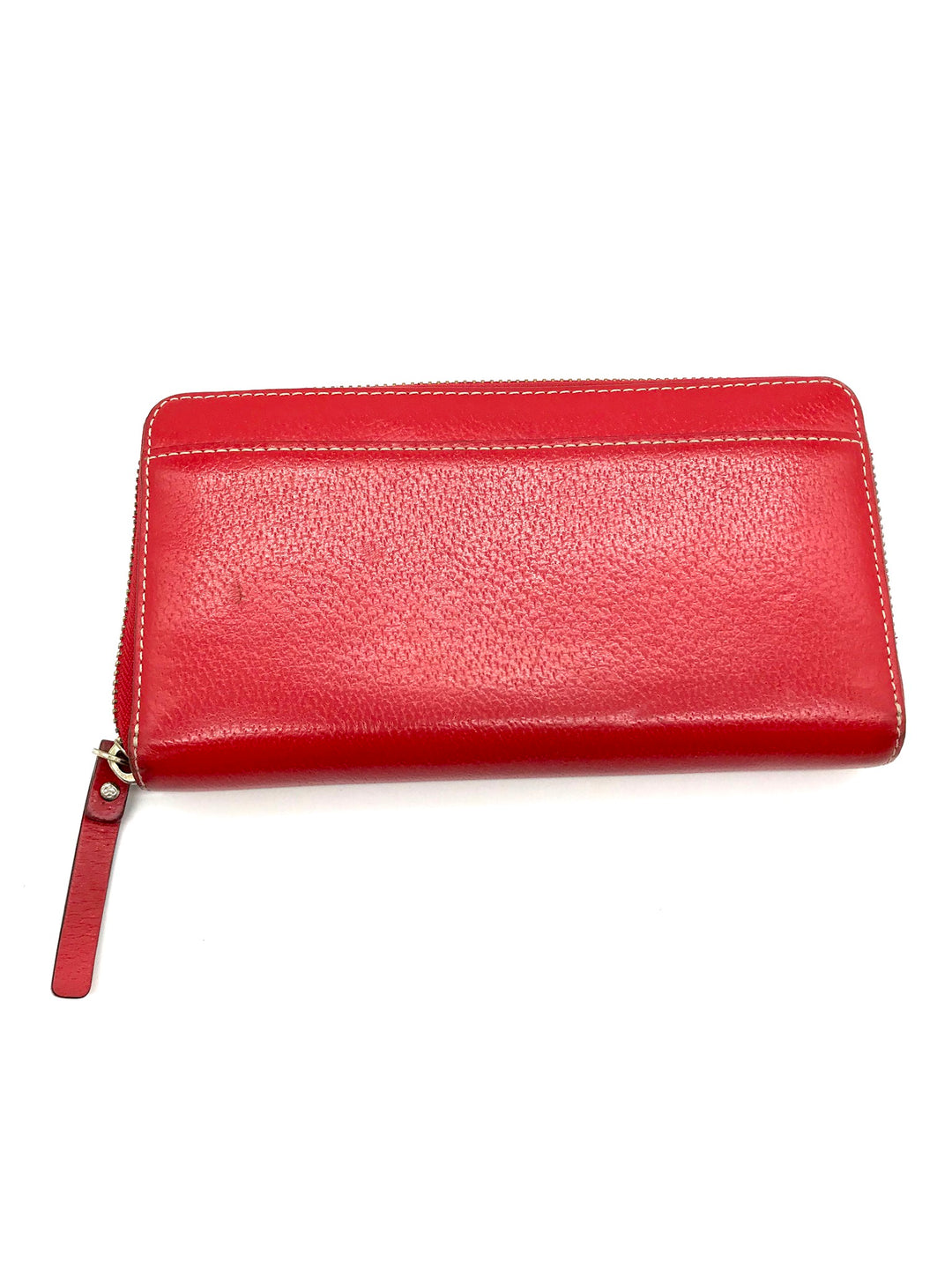 Photo #1 - BRAND: KATE SPADE <BR>STYLE: WALLET <BR>COLOR: RED <BR>SIZE: LARGE <BR>SKU: 262-26275-66087<BR>AS IS SLIGHT WEAR <BR>DESIGNER BRAND FINAL SALE