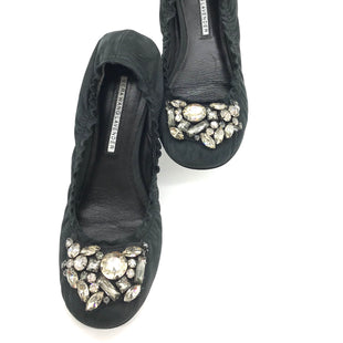 Primary Photo - BRAND: VERA WANG LAVENDERSTYLE: BALLET FLATS COLOR: BLACK WITH CRYSTAL DETAILSSIZE: 6 SKU: 262-26275-66678GENTLE WEAR - AS IS