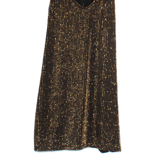 Primary Photo - BRAND: BCBGMAXAZRIA STYLE: TOP SLEEVELESS COLOR: GOLD BLACKSIZE: L SKU: 262-26275-64571PIT TO HEM 18""