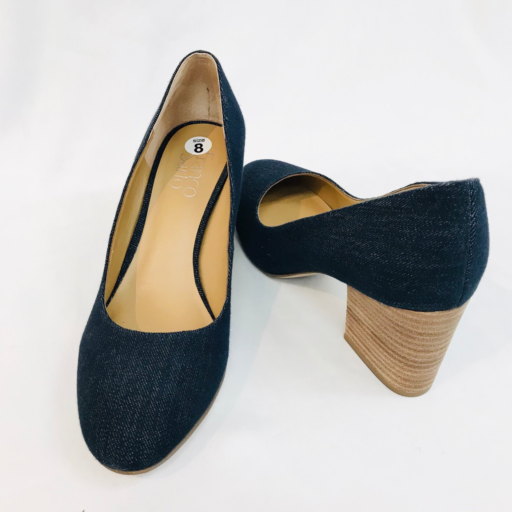 Photo #1 - BRAND: FRANCO SARTO <BR>STYLE: SHOES LOW<BR>COLOR: DENIM <BR>SIZE: 8 <BR>SKU: 262-26211-124511<BR>AS IS