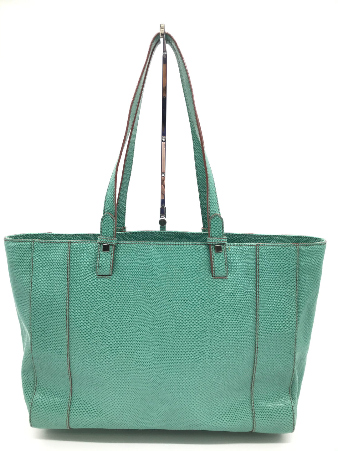 "Primary Photo - BRAND: BARR+BARR<BR>STYLE: HANDBAG <BR>COLOR: MINT <BR>SIZE: LARGE 10""H X 17.5""L X 5""W <BR>SKU: 262-26275-70332<BR>SOME MARKS ON THE EXTERIOR -AS IS"