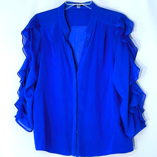 Primary Photo - BRAND: TIBI STYLE: BLOUSE COLOR: ROYAL BLUE SIZE: L /12OTHER INFO: 100% SILK SKU: 262-26211-144404