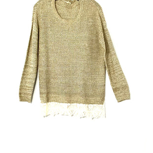 Primary Photo - BRAND: MYSTREE STYLE: SWEATER LIGHTWEIGHT COLOR: OLIVE CREAMSIZE: S /MSKU: 262-26211-127585