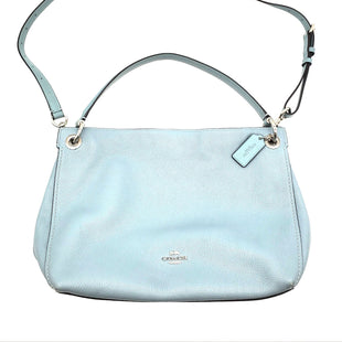 Primary Photo - BRAND: COACH STYLE: HANDBAG DESIGNER COLOR: BABY BLUE SIZE: MEDIUM SKU: 262-262100-48AS IS DESIGNER ITEM FINAL SALE