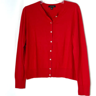 Primary Photo - BRAND: ANN TAYLOR LOFT STYLE: SWEATER CARDIGAN LIGHTWEIGHT COLOR: RED SIZE: L SKU: 262-262101-3121