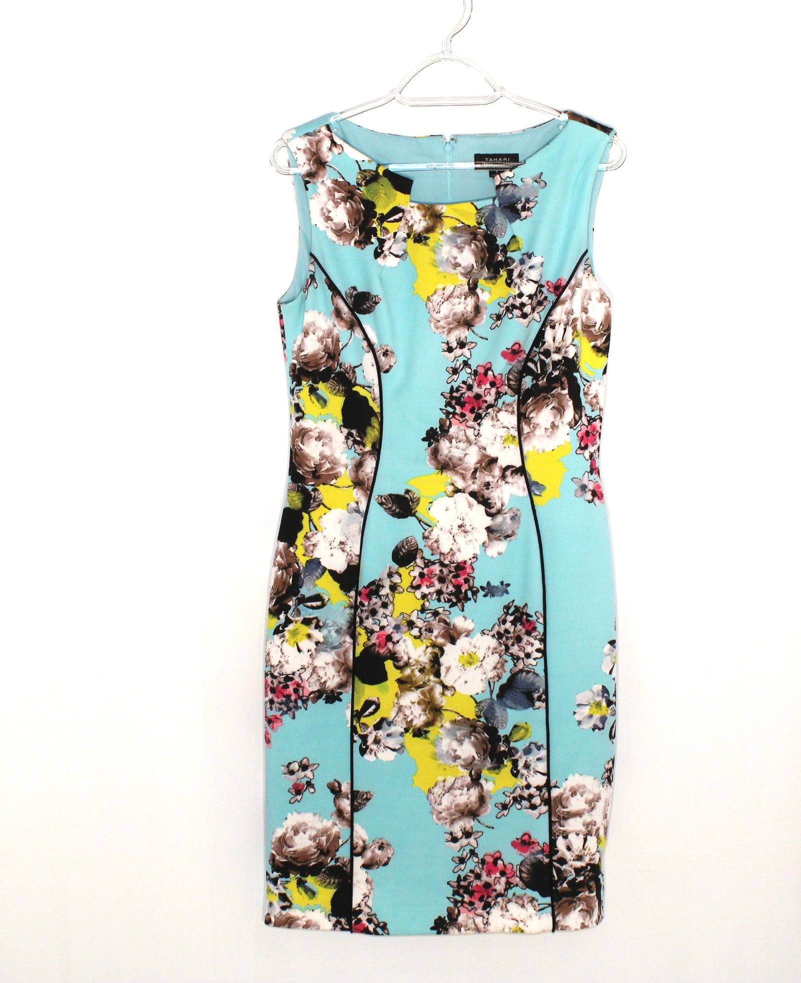 Primary Photo - BRAND: TAHARI BY ARTHUR LEVINE <BR>STYLE: DRESS SHORT SLEEVELESS <BR>COLOR: FLORAL <BR>SIZE: S/6<BR>SKU: 262-26275-58430