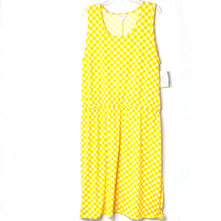 Primary Photo - BRAND: LULAROE STYLE: DRESS SHORT SLEEVELESS COLOR: YELLOW CHECKEDSIZE: 3XLSKU: 262-26275-78867