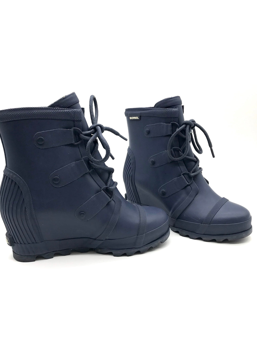 Photo #2 - BRAND: SOREL <BR>STYLE: BOOTS ANKLE <BR>COLOR: NAVY <BR>SIZE: 9 <BR>SKU: 262-26275-64764<BR>SLIGHT WEAR AS IS <BR>DESIGNER BRAND FINAL SALE