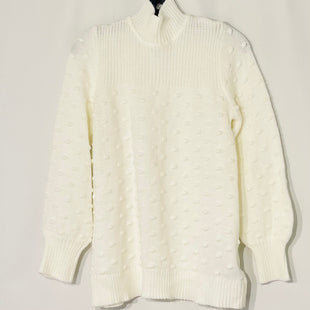 Primary Photo - BRAND: CALVIN KLEIN STYLE: SWEATER HEAVYWEIGHT COLOR: WHITE SIZE: M SKU: 262-26275-77868