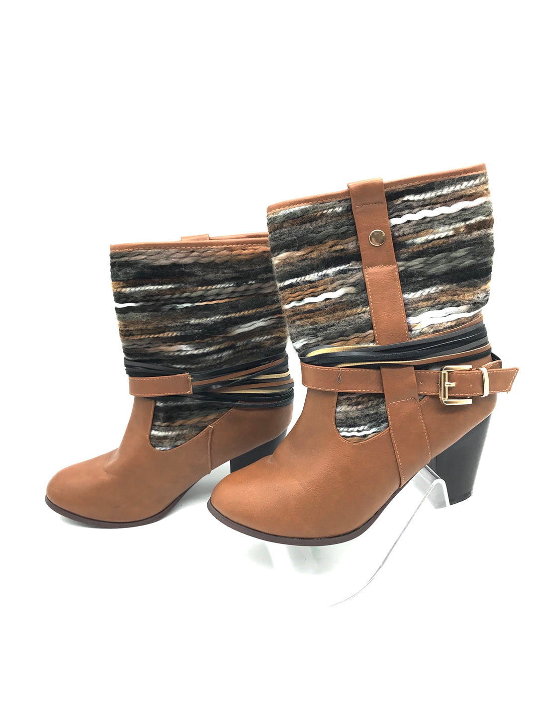 Photo #2 - BRAND: FRANCESCA'S <BR>STYLE: BOOTS ANKLE <BR>COLOR: BROWN <BR>SIZE: 8 <BR>SKU: 262-26275-67422