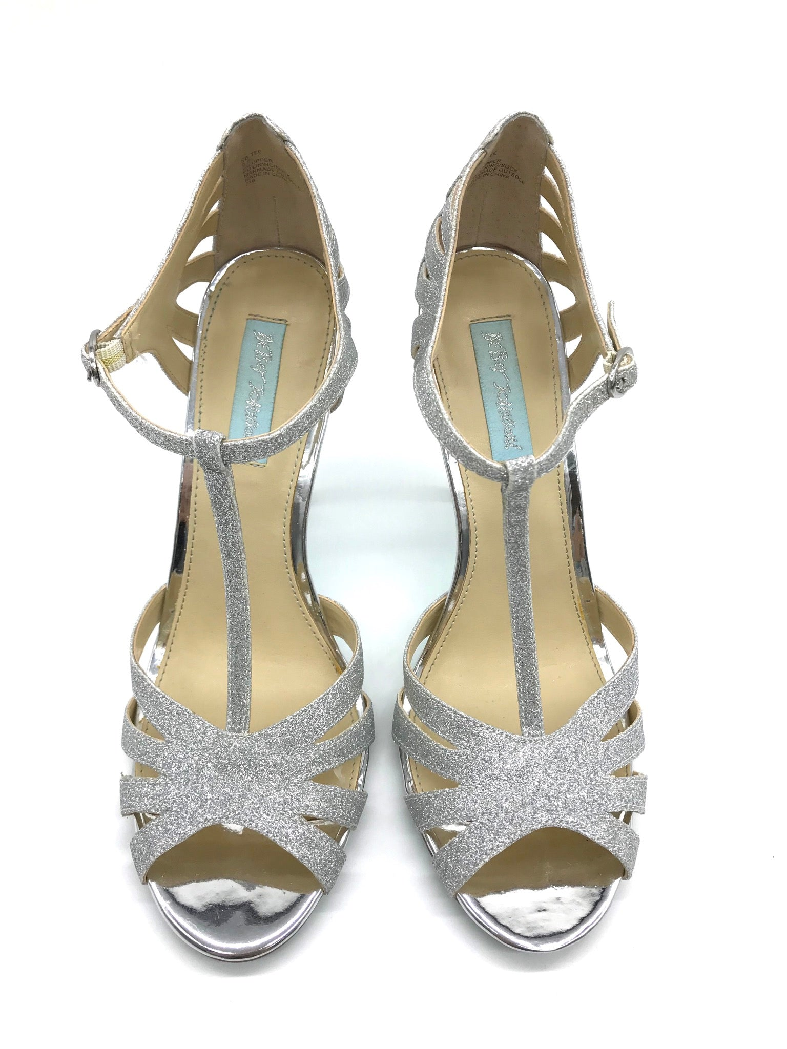 Primary Photo - BRAND: BETSEY JOHNSON <BR>STYLE: SANDALS HIGH <BR>COLOR: SILVER <BR>SIZE: 9.5 <BR>SKU: 262-26275-62519<BR>IN NEW CONDITION - AS IS