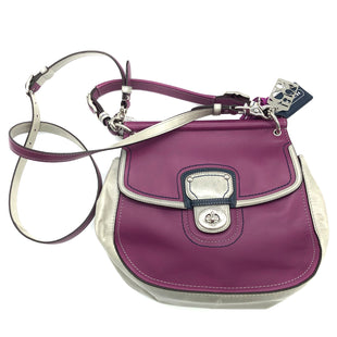 "Primary Photo - BRAND: COACH STYLE: HANDBAG DESIGNER COLOR: PINKGRAY SIZE: SMALL SKU: 262-26275-75673APPROX. 11""L X 10""H X 3""D. STRAP DROP APPROX. 24"", HANDLE DROP APPROX. 5.25""."