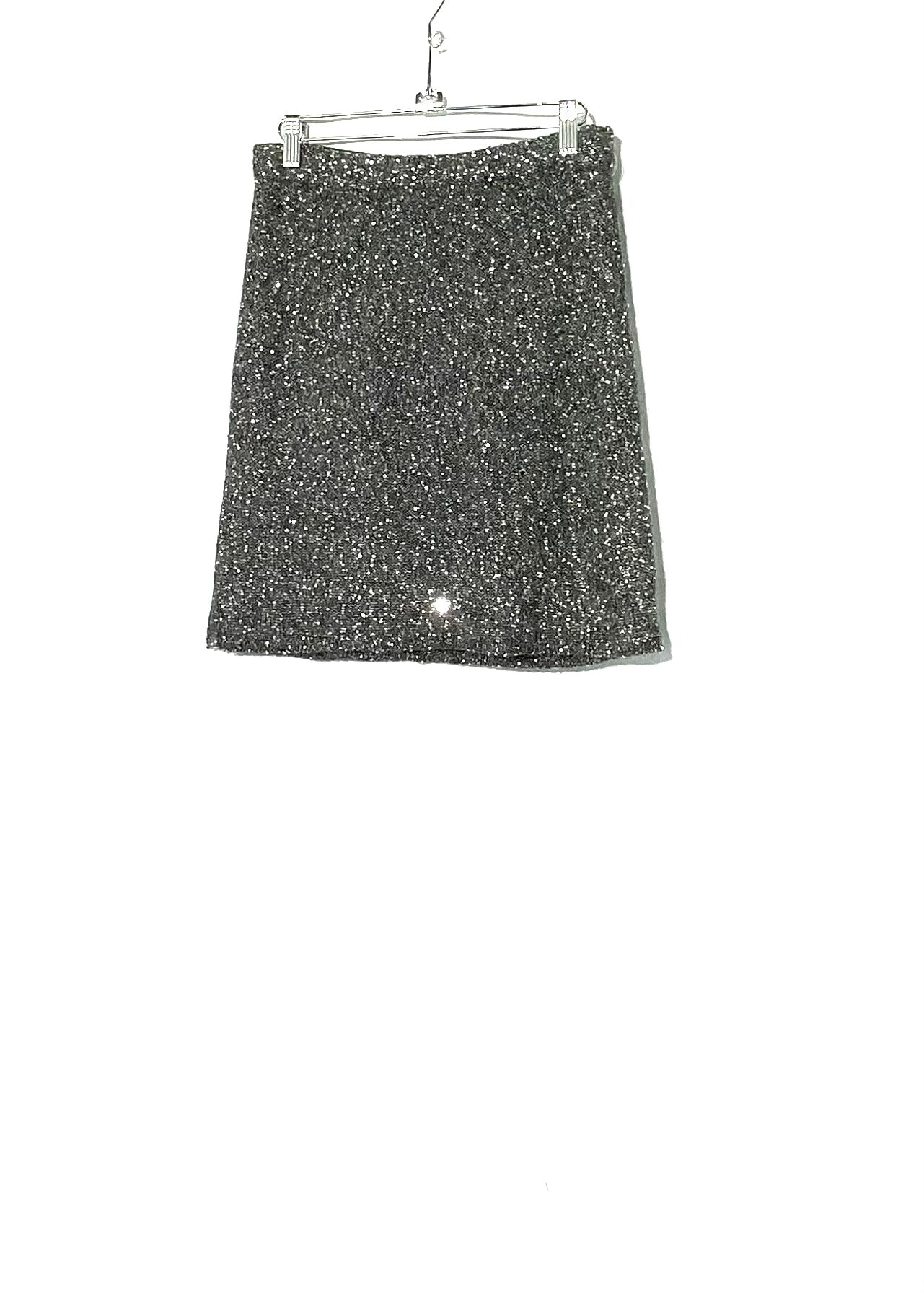 Primary Photo - BRAND: GARNET HILL <BR>STYLE: SKIRT <BR>COLOR: GREY SPARKLY SEQUIN<BR>SIZE: S <BR>SKU: 262-26275-71340<BR>ELASTIC WAIST<BR>22% WOOL & ALPACA (FUZZINESS)<BR>LINING 14% SPANDEX<BR>SPARKLE IN PHOTO (BACK LOOKS SAME)