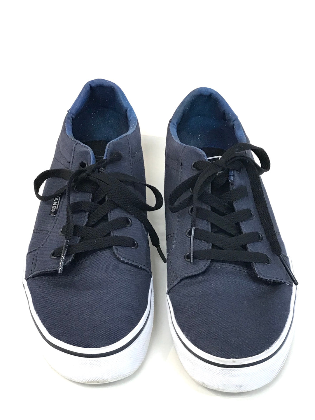 Primary Photo - BRAND: VANS <BR>STYLE: SHOES ATHLETIC <BR>COLOR: NAVY <BR>SIZE: 6 <BR>SKU: 262-26275-62214<BR>GENTLE WEAR SHOWS <BR>FINAL SALE - AS IS