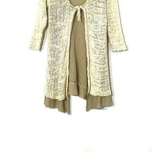 Primary Photo - BRAND:    CARTISESTYLE: SWEATER CARDIGAN LIGHTWEIGHT COLOR: BEIGE SIZE: S OTHER INFO: CARTISE - SKU: 262-26275-72083